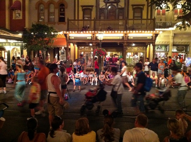 Disney Main Street Parade at Night