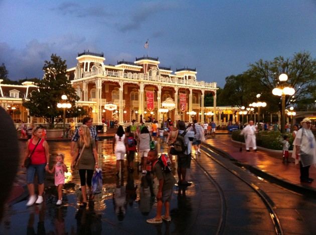 Disney Town Square During the Thunderstorm
