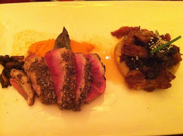 Duck Two Ways at The Brown Derby