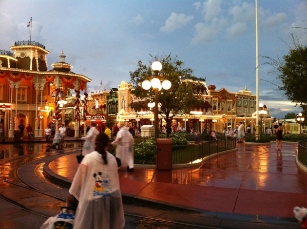 Entering the Town Square at Disney