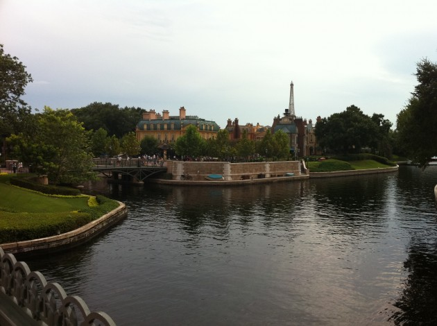 We Could See France Epcot from Across the Water