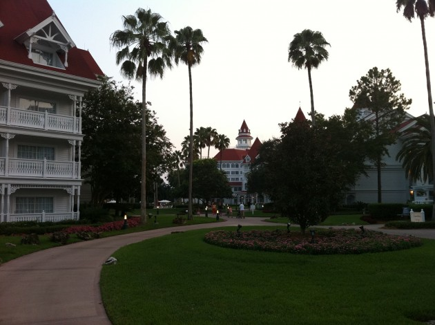 Leaving the Grand Floridian After Dinner
