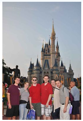 Group In Front of Disney Castle