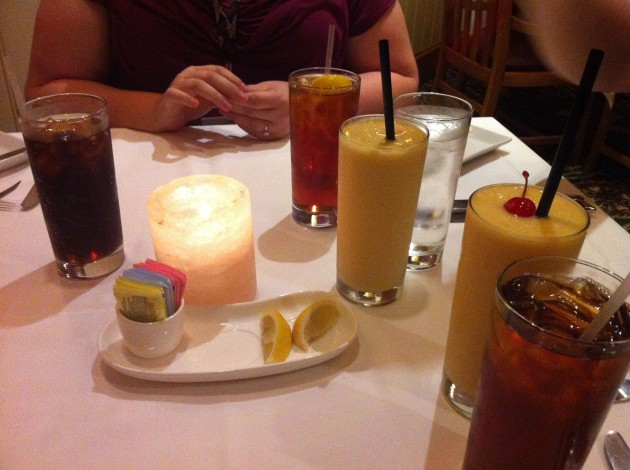 Mango Smoothies at the Yachtsman Club