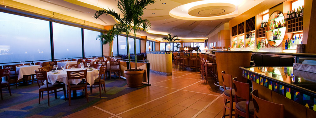 The California Grill at Disney World at the top of The Contemporary Hotel