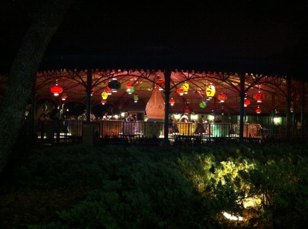 The Teacups at Night