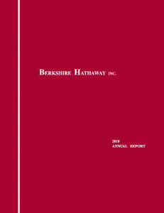 Berkshire Hathaway Intrinsic Value and Annual Report