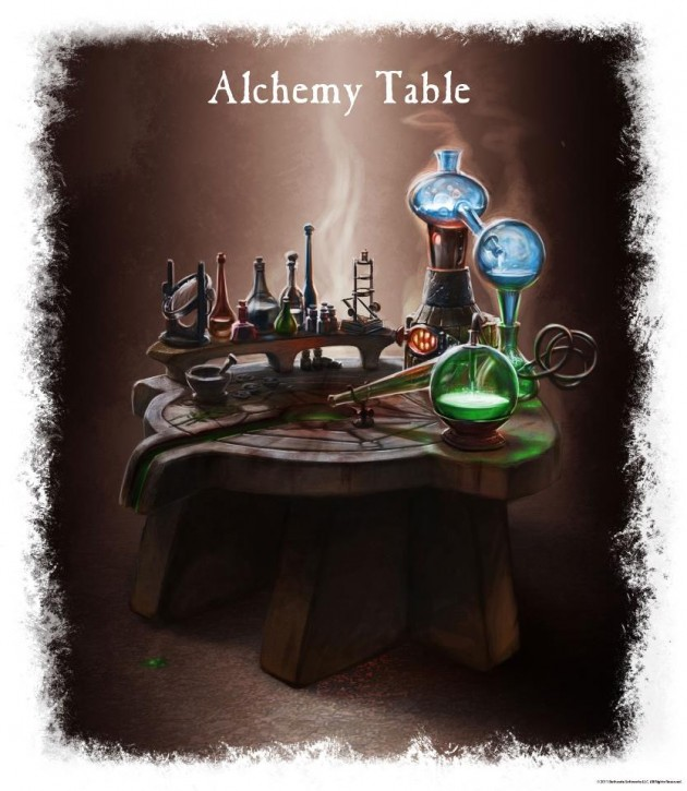 Alchemy Table Elder Scrolls Skyrim
