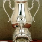 Burgundy Coffee Urn from Reed & Barton