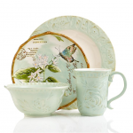 Fitz and Floyd Dinnerware Toulouse Green Collection