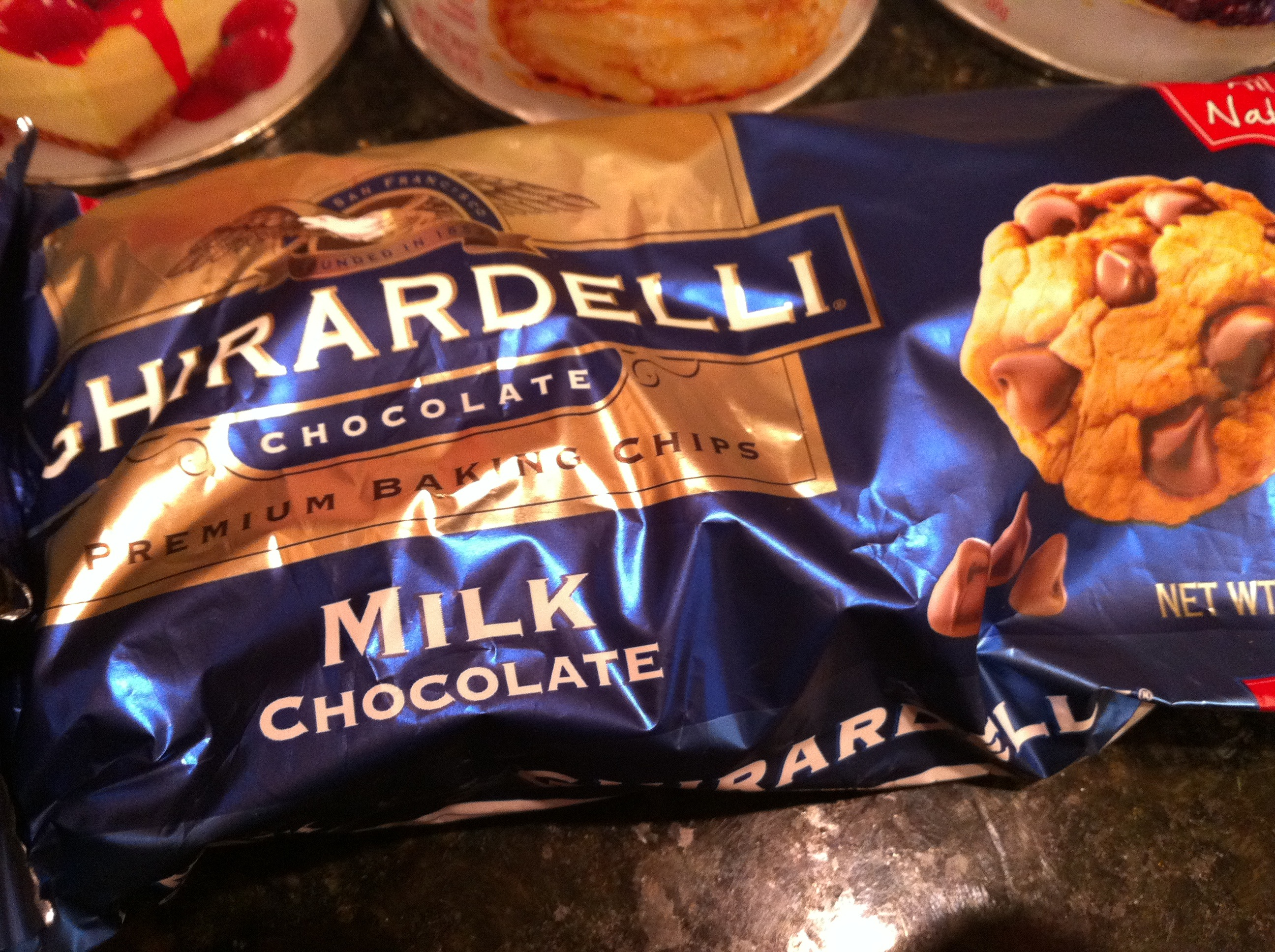 Ghiradelli Milk Chocolate Chips for Belgian Waffles