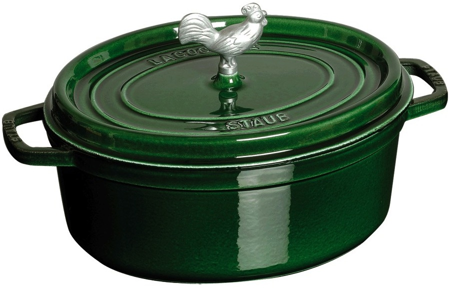 Staub Chicken Dutch Oven in Green