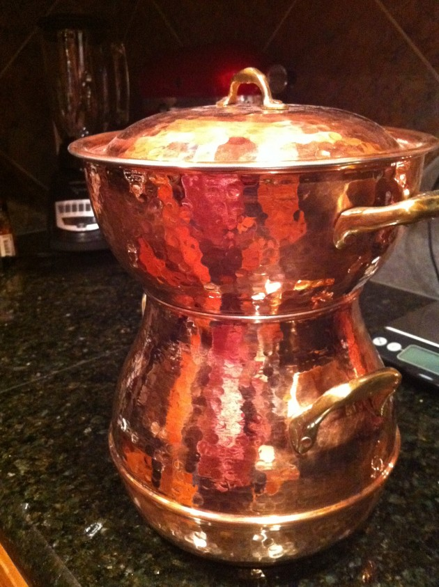 Three Piece Copper Vegetable Steamer