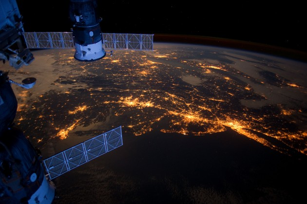 East Coast United States from Space at Night
