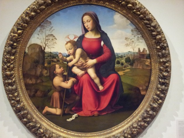 Madonna and the Child with the Infant Saint John the Baptist 1510 to 1512 by Giuliano Bugiardini