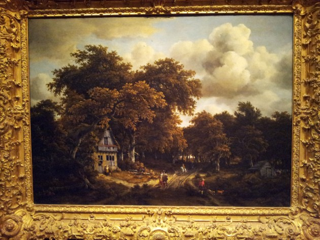 Road in the Woods by Meindert Hobbema Dutch Painter Oil on Canvas 1670s