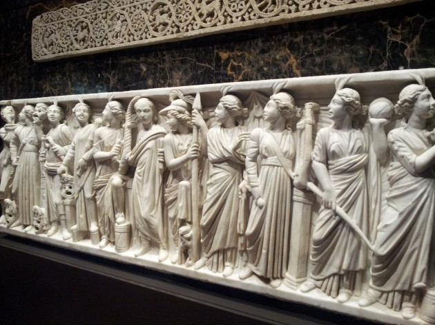Roman Sarcophagus 240 to 260 Common Era in Marble