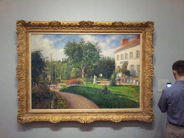 The Garden of Les Mathurins at Pontoise 1876 Oil on Canvas by Camille Pissarro