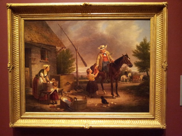 The Thirsty Drover 1856 Oil on Canvas by Francis William Edmonds