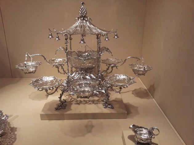 Thomas Pitts I Epergne Silver 1761 Folgers Coffee Silver Collection