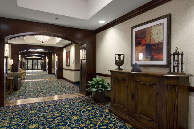 The Hallway of the Hilton Hotel in Waco, Texas