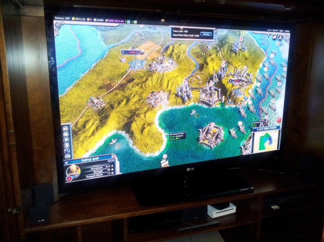 Civilization V Hooked Up to Television