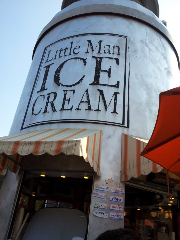 Closeup of Little Man Ice Cream in Denver