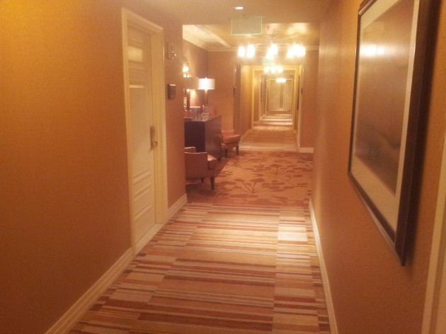 Hallway to the Room at the Ritz Carlton Denver