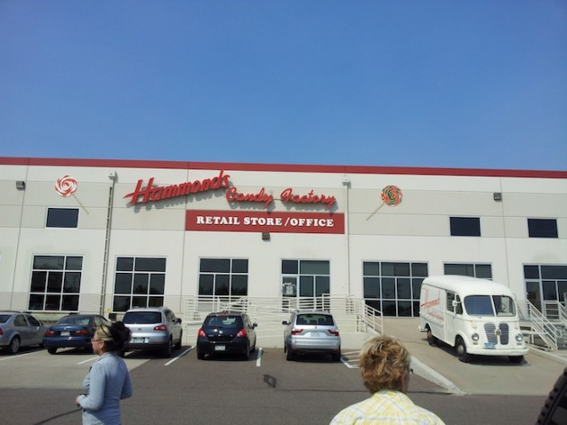 Hammond's Candies Factory Outside