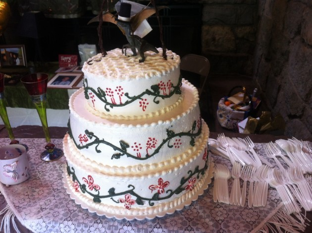 Molly and Joshua's Wedding Cake