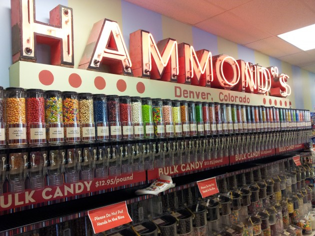 The Jelly Bean Wall at Hammond's Candy Factory Tour