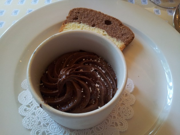 Chocolate Mousse with Caramel from Les Chefs de France in Epcot Disney World