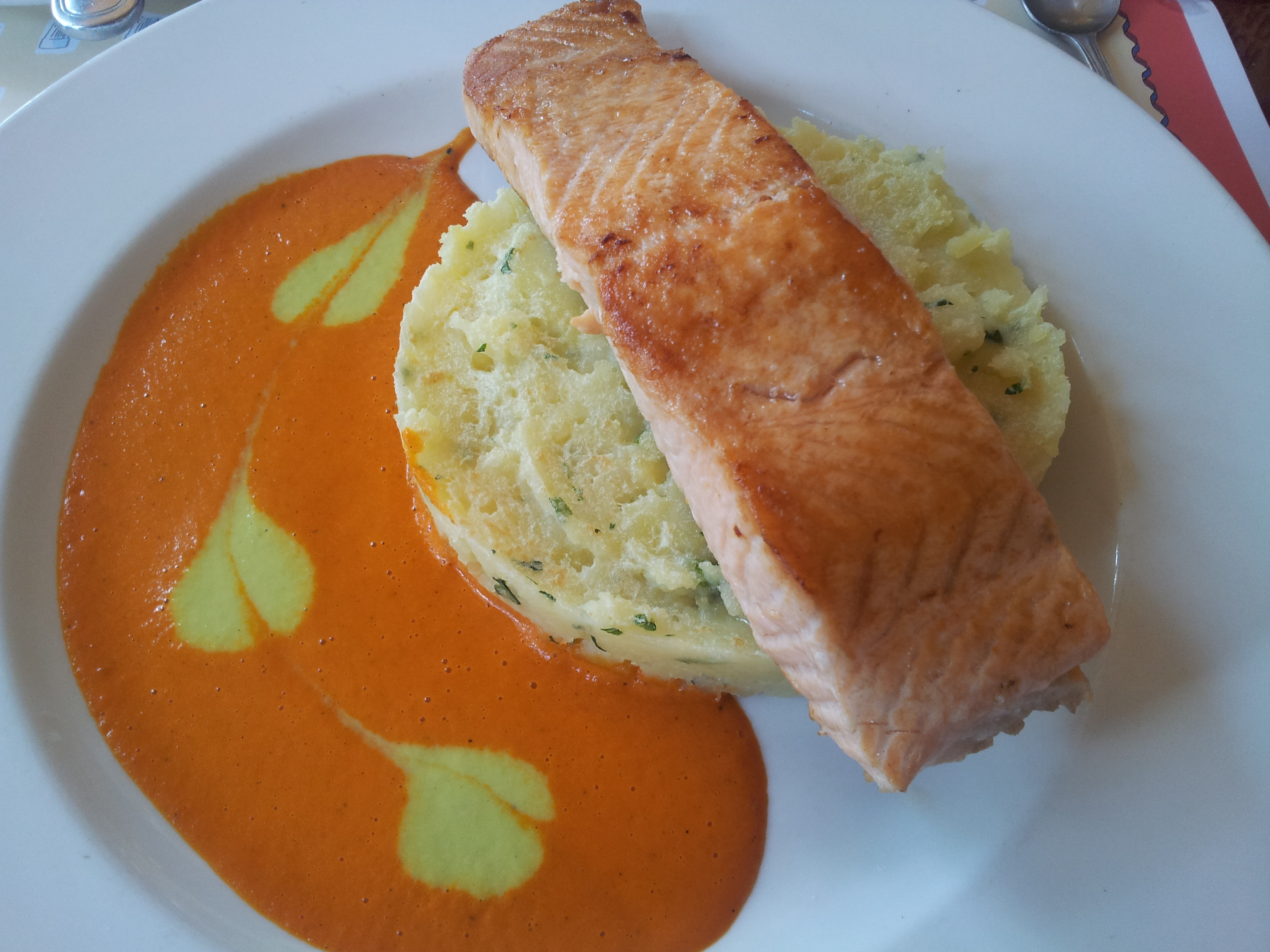 Salmon at Les Chefs de France Walt Disney World