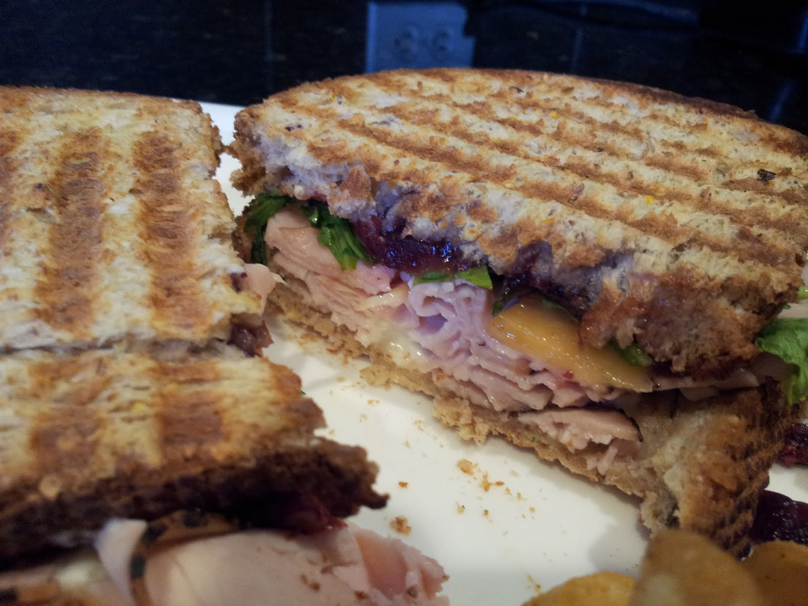 Pepper Turkey and Cranberry Panini