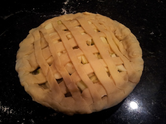 Granny Smith Applie Pie Before Getting Brown Sugar and Butter Melt