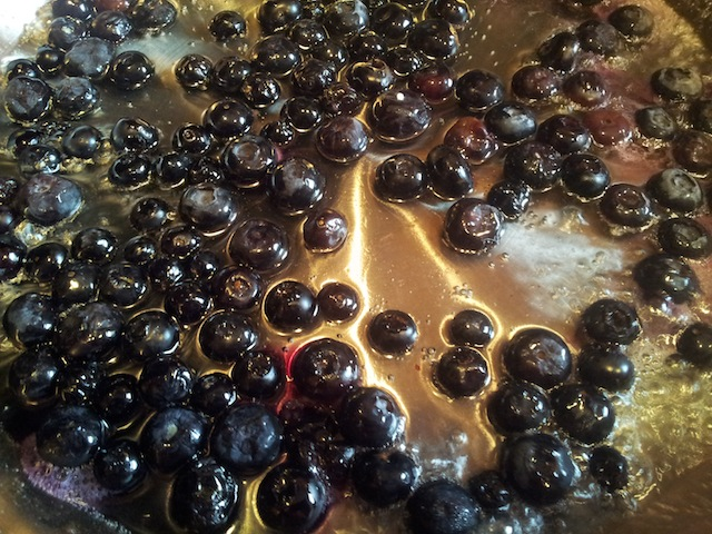 Blueberry Sauce Beginning to Form