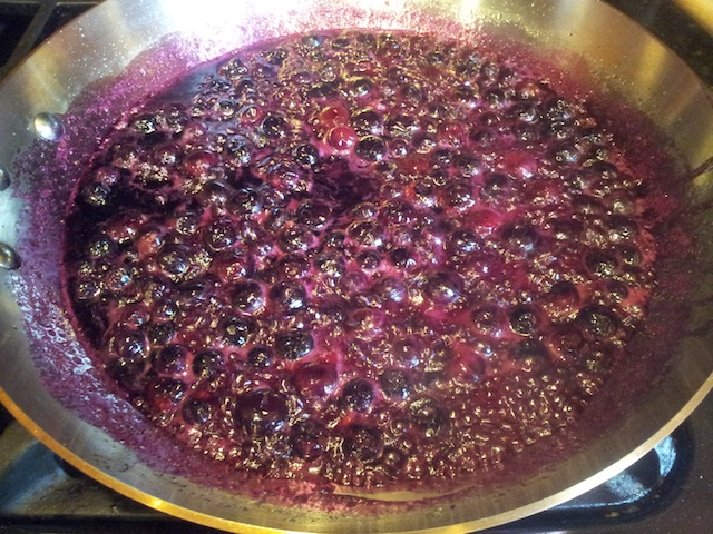 Continue Thickening the Blueberry Sauce