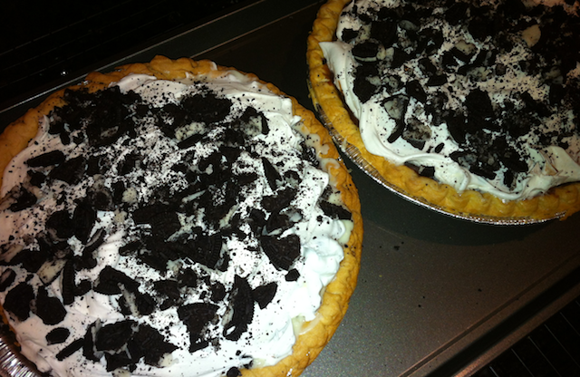 Oreo Pies on a Cookie Sheet