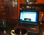 Working on Blog During Christmas Preparation