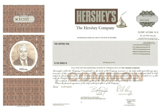 Investing In Hershey Common Stock Dividends