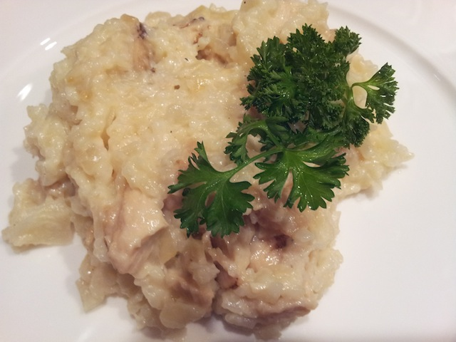 Julia Child Soubise with Cream and Blackened Chicken