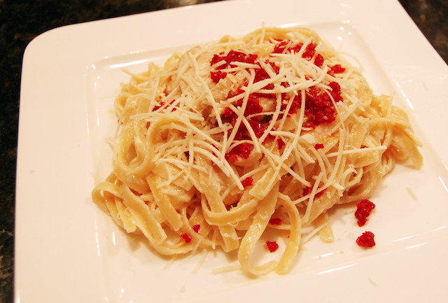 Cream and Butter Sauce with Romano Cheese Chicken and Sun Dried Tomato