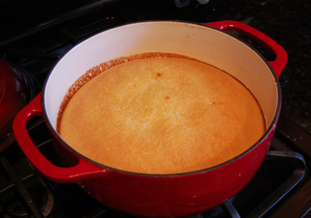 Dutch Oven Corn Bread