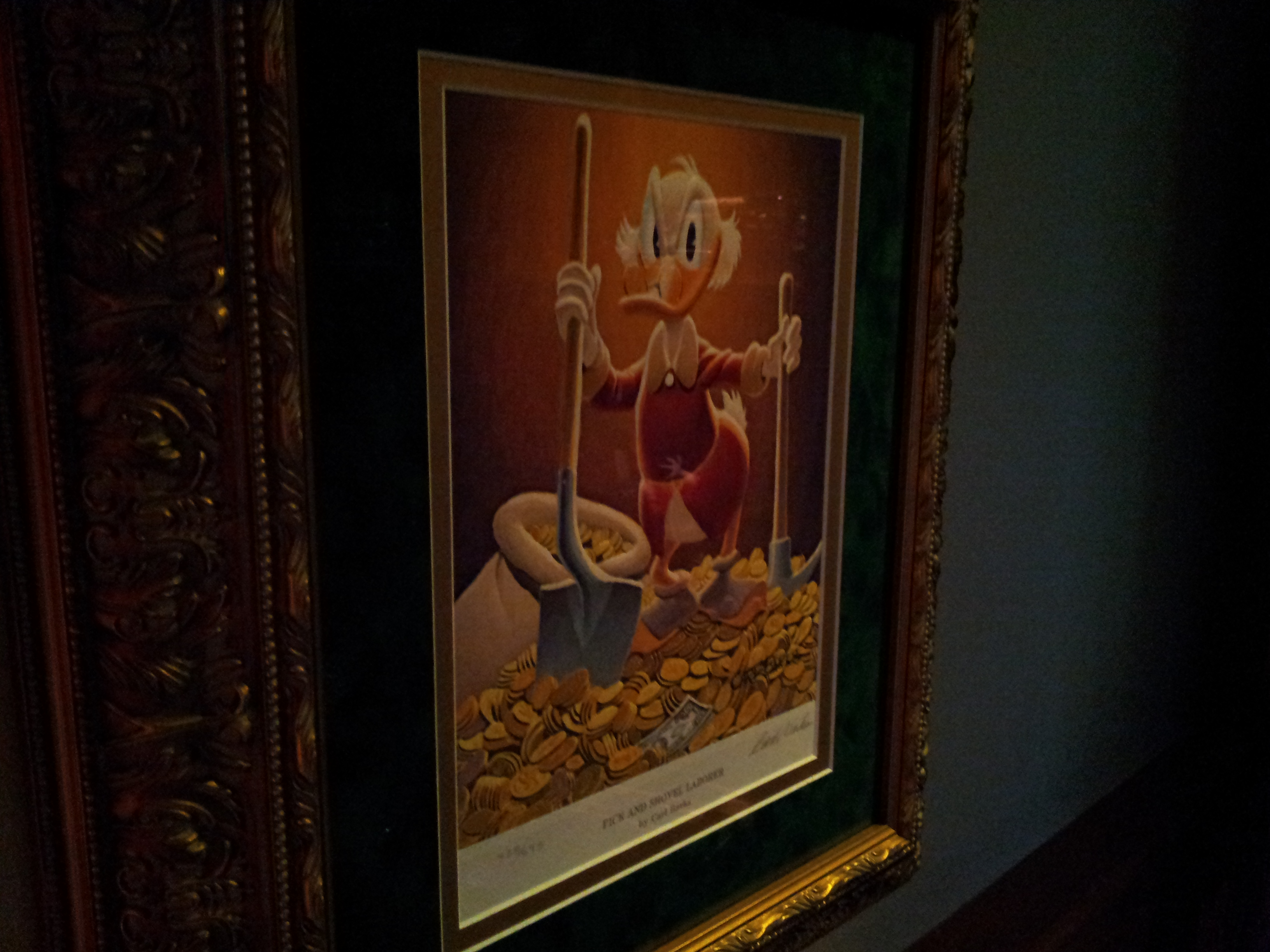 Some of the Carl Barks Scrooge McDuck Artwork