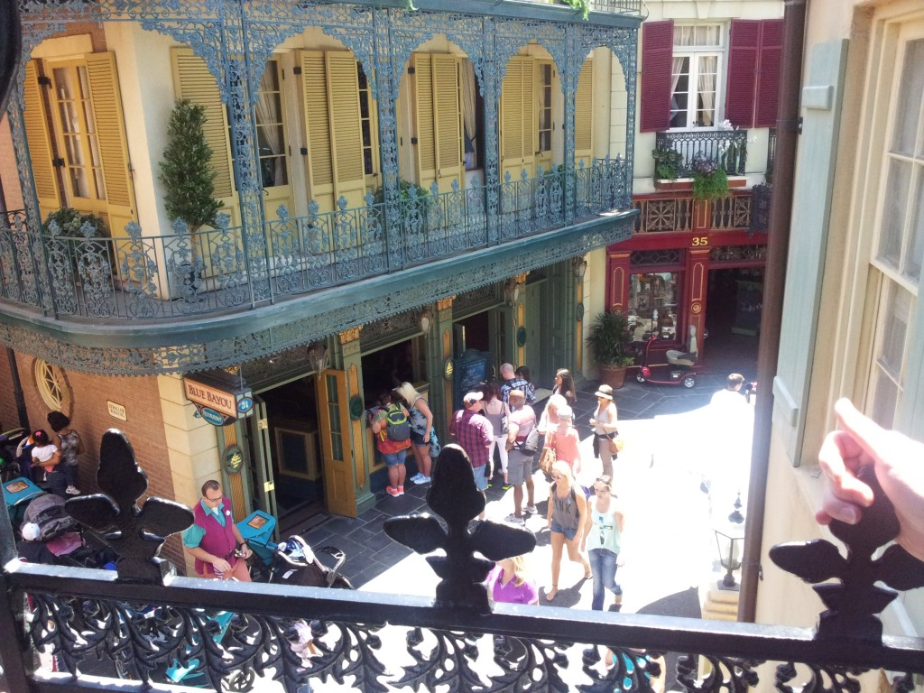 Blue Bayou from Club 33 Balcony