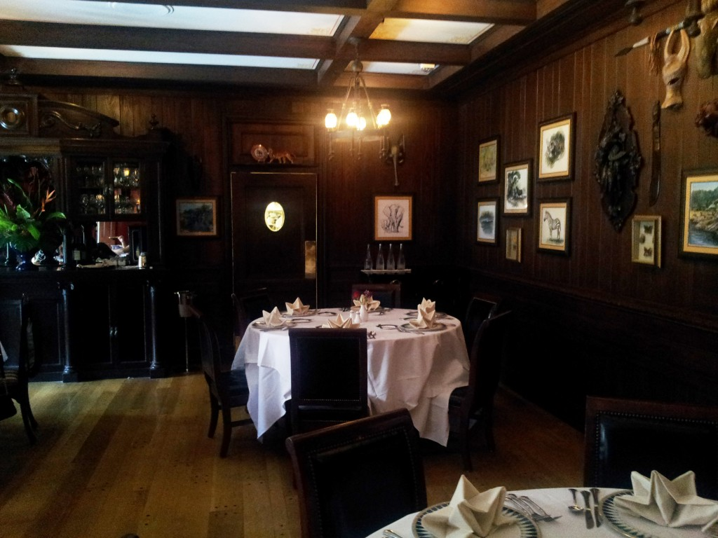 Club 33 Hunting or Trophy Dining Room Table