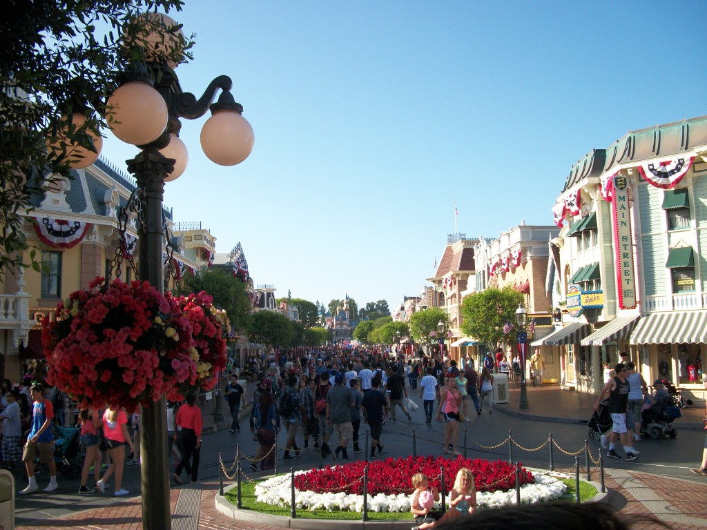 Disneyland Main Street Castle View