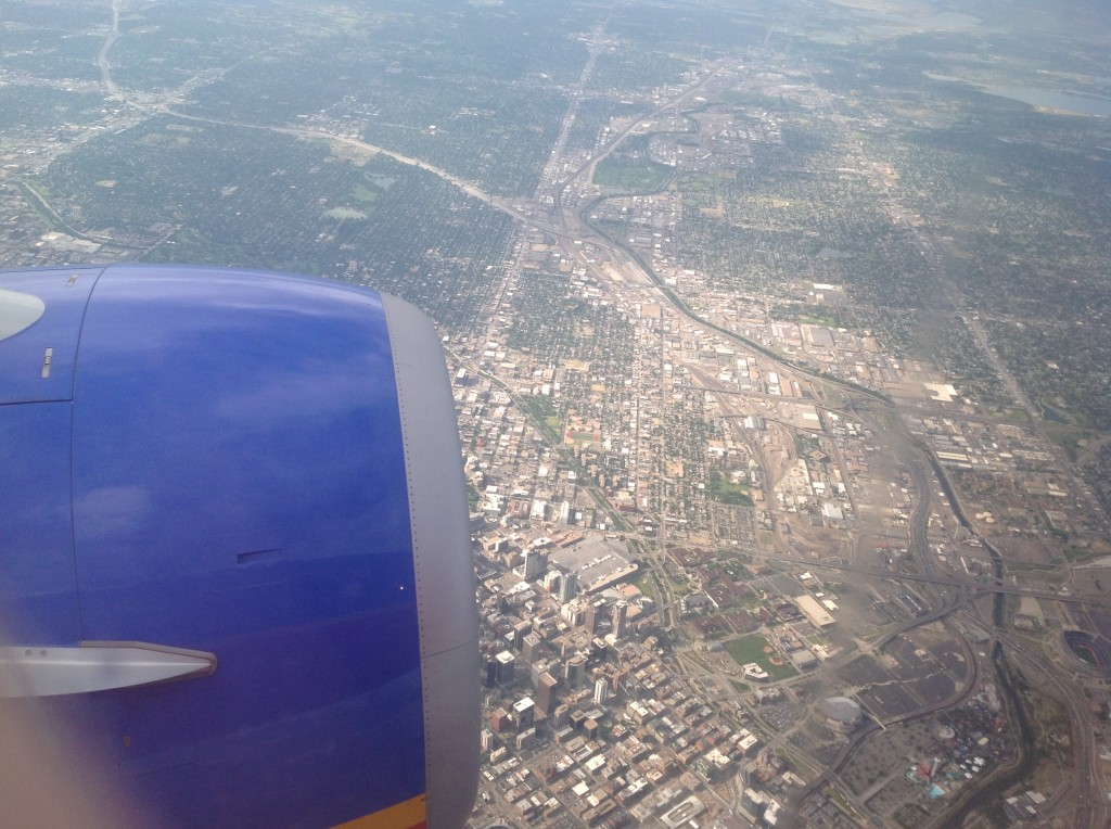 Flying Over Downtown Denver