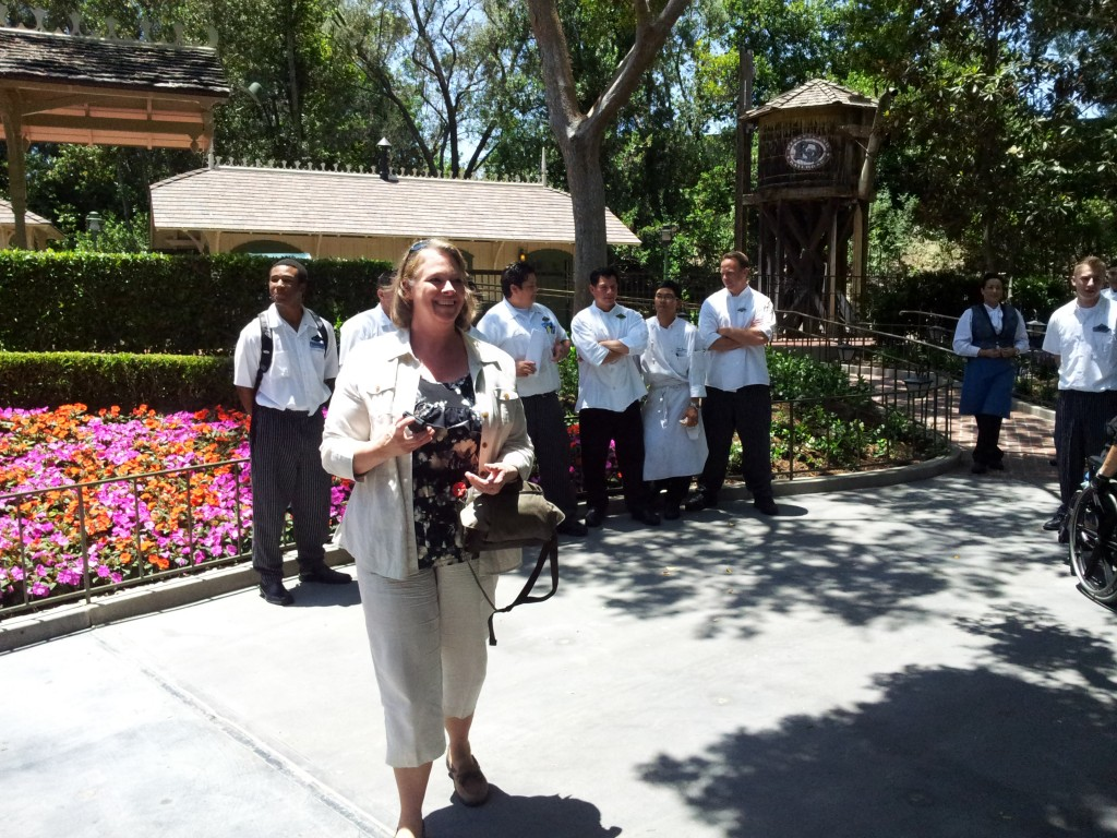 Linda Getting the Disney Employees from the Kitchen at Club 33 to Take Photographs for Her