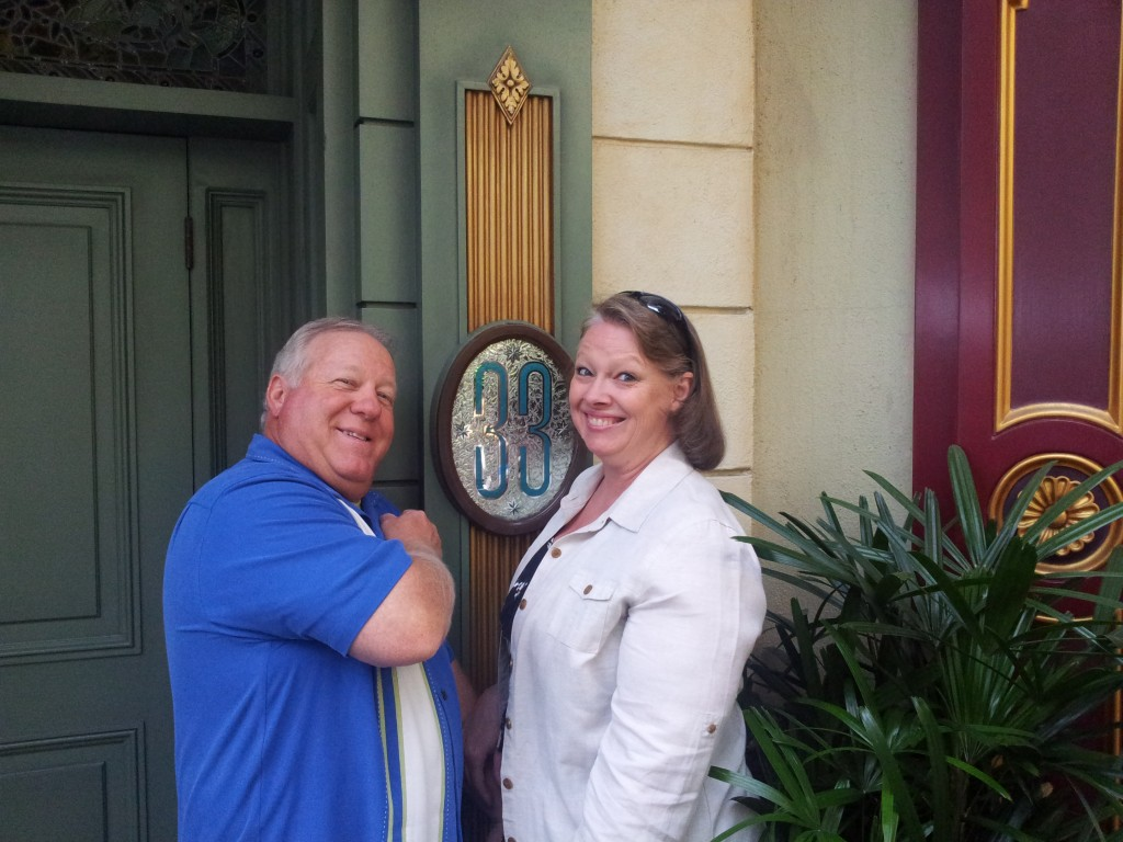 Linda and Her Husband Chuck at Club 33 Disneyland